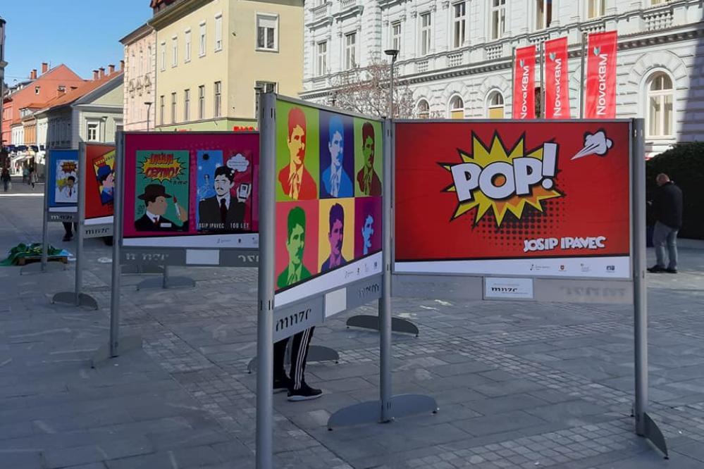 Dijaki so plakate pripravili po raziskovanju življenja in dela Josipa Ipavca. (Foto: FB Anita Koleša)