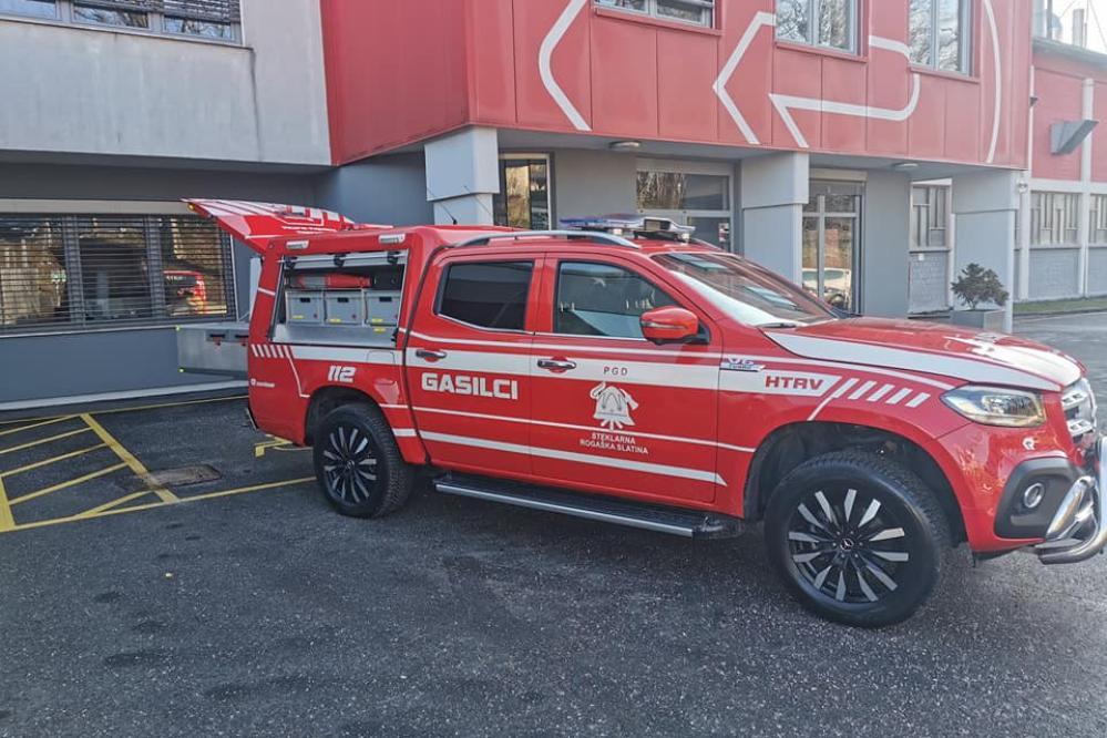 Novo vozilo bo pomagalo pri različnih nesrečah. (Foto: PGD Steklarna Rogaška)